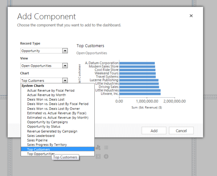 Add Components to Your Dashboard