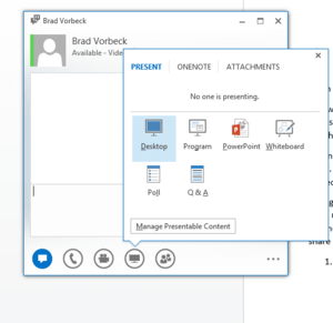 Microsoft Lync How-To Tutorial: Screen Sharing