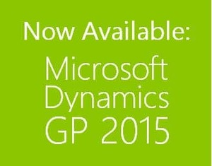 Microsoft Dynamics GP 2015 is Now Available!