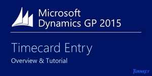 Microsoft Dynamics GP Timecard Entry – Overview & Tutorial