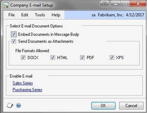 Dynamics GP User Tip: Emailing Documents from within Dynamics GP