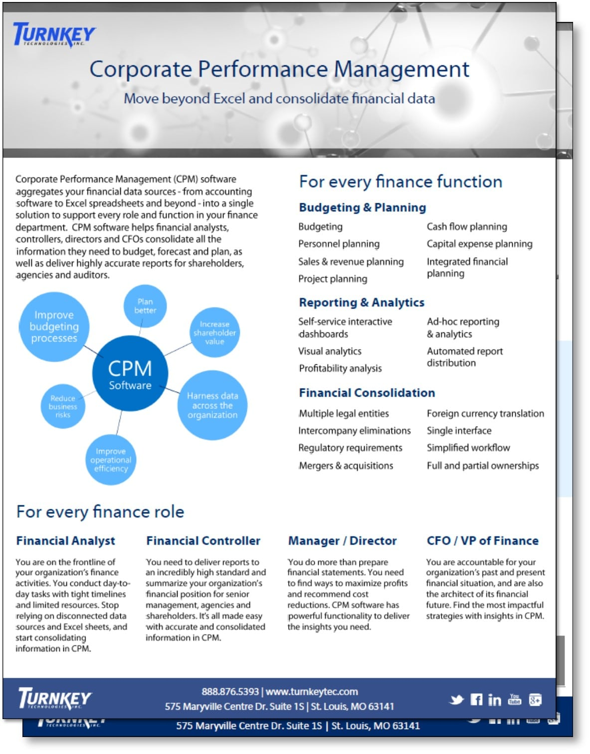 Corporate Performance Management Fact Sheet - Turnkey Technologies - image