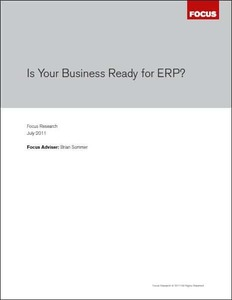 Is your business ready for ERP - White Paper.