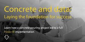 Concrete and data: Laying the foundation for success