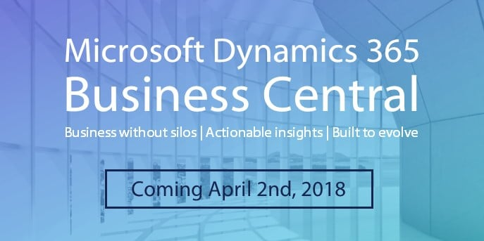 Microsoft Dynamics 365 Business Central is now available! Cloud ERP & CRM, built to evolve