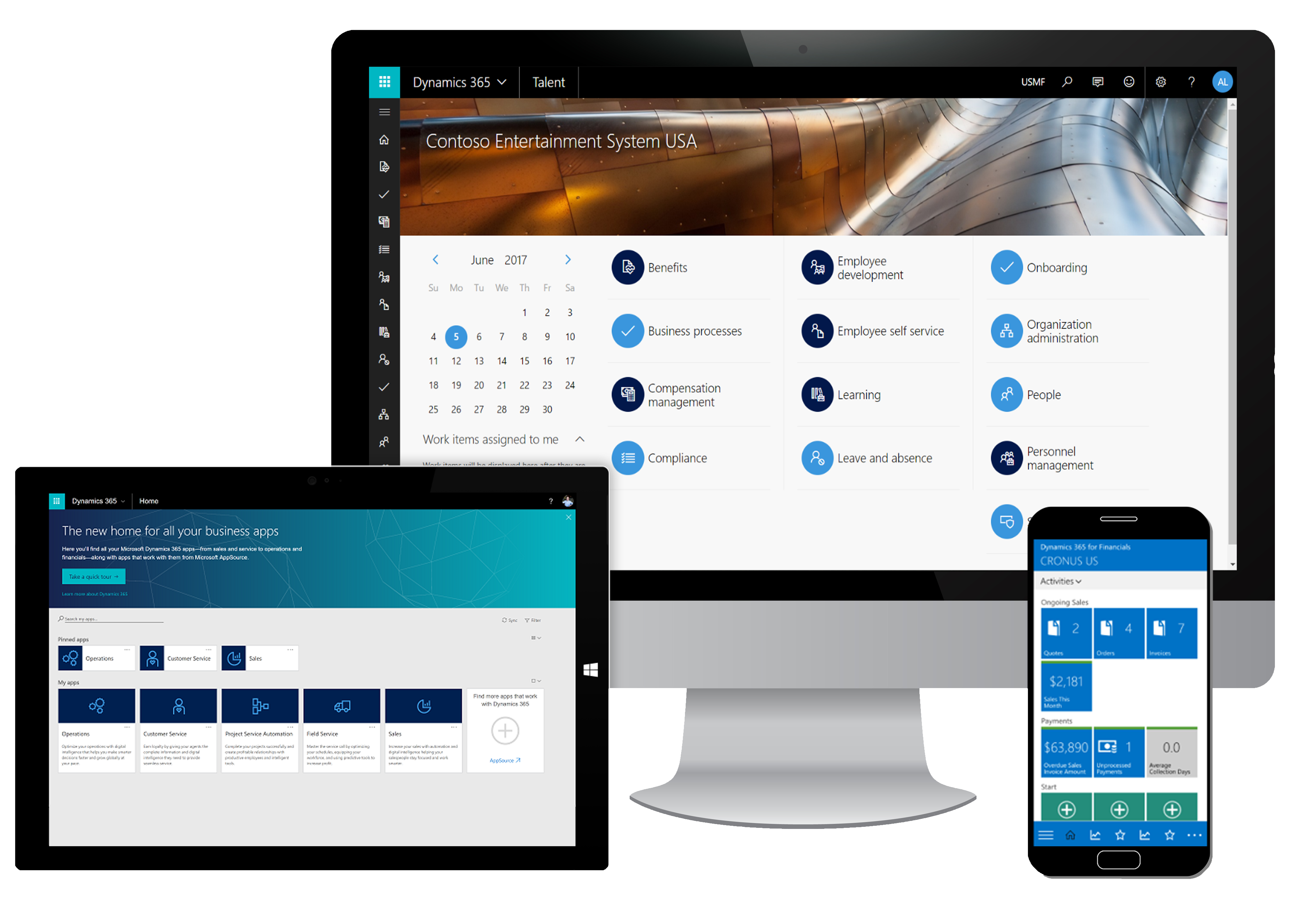 Microsoft Dynamics 365 on devices