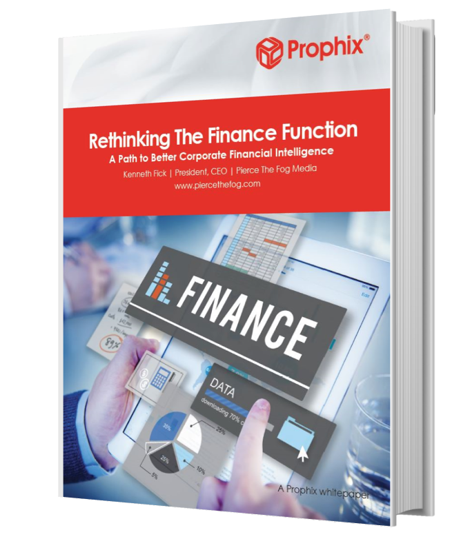 Rethinking the Finance Function - Prophix White Paper