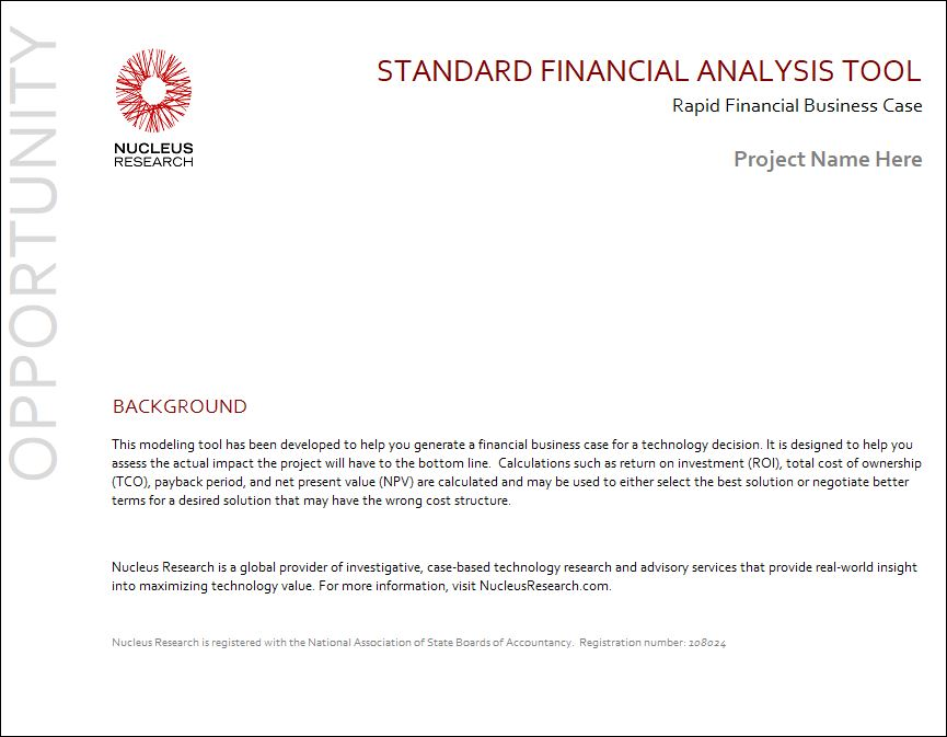 Nucleus Research - Standard ROI Tool