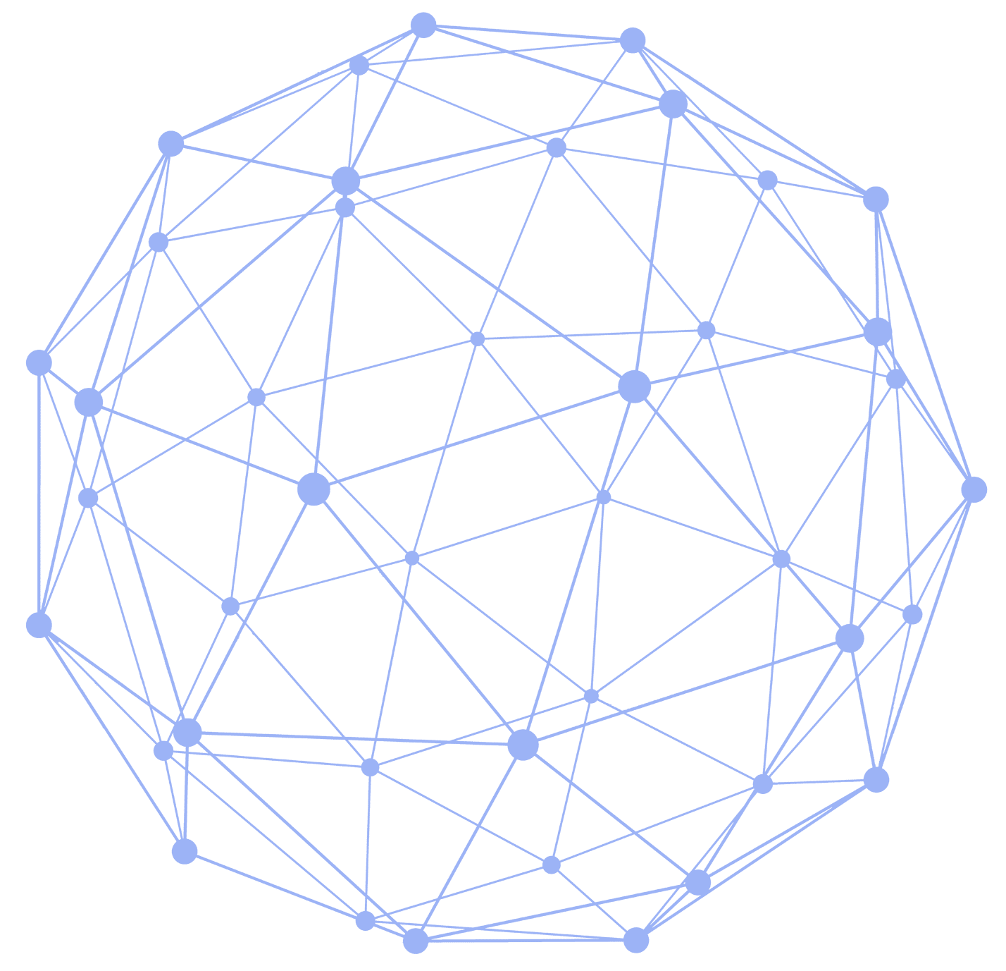 Connected Dot Circle - blue png