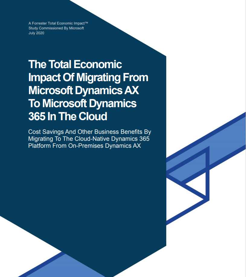 Download the Forrester Report on AX to Dynamics 365 Migration