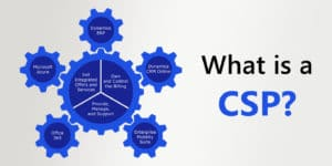 what is a cloud solution provider graphic with gears turning